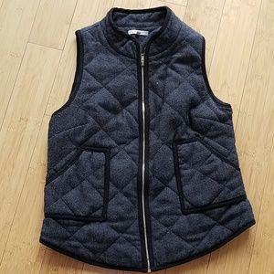 Quilted herringbone vest